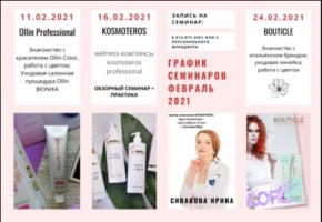 График семинаров ФЕВРАЛЬ 2021