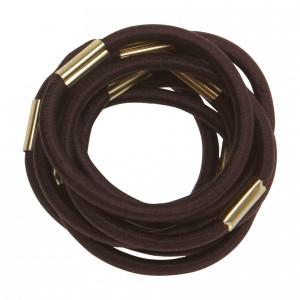 Резинки для волос DEWAL коричневые maxi 10 шт RE022