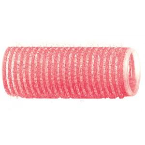 Бигуди-липучки DEWAL розовые d 24 мм, 12шт/уп R-VTR7