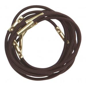 Резинки для волос DEWAL коричневые mini 10шт RE028