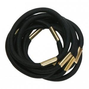 Резинки для волос DEWAL 1 ШТУКА черные maxi RE021