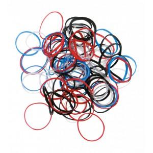 Резинки для волос DEWAL силикон (100шт)цветн RES031