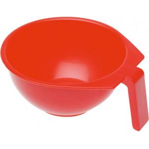 Чаша для окрашивания DEWAL с ручкой красная 400 мл Т-1212К