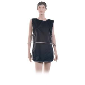 Фартук мастера DEWAL для стрижки и окрашивания со спинкой короткий черн 45*82 см BN90015