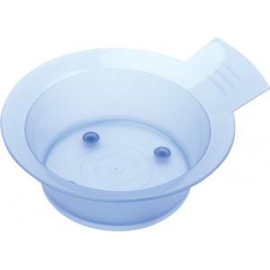 Чаша для окрашивания DEWAL голубая зеленая розовая с ручкой с резинкой на дне 300 мл JPP052D F P