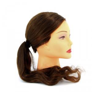 "Голова учебная  DEWAL ""шатенка"" волосы 50-60см протеин FI-2022XL-6"