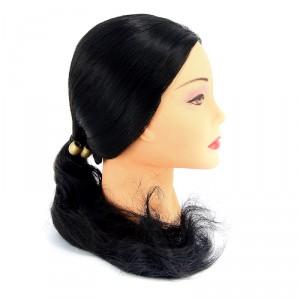 """Голова учебная DEWAL """"брюнетка"""" волосы 50-60см протеин FI-2022XL-401"""