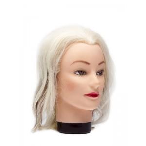 """Голова учебная DEWAL """"блондинка"""" натуральные волосы 20-30см M-4151K"""