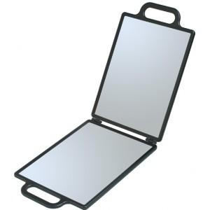 Зеркало заднего вида Dewal черное, складное с двумя ручками NB00035