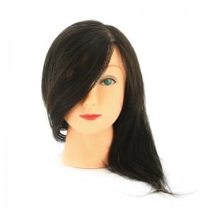 """Голова учебная DEWAL """"брюнетка"""" натурал.волосы 30-40см М-2023М-401"""
