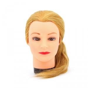 """Голова учебная DEWAL """"блондинка"""" натуральные волосы 45-50см М-4151L-408"""