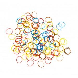 Резинки для волос DEWAL силиконовые цветные mix mini 100шт/уп RES035