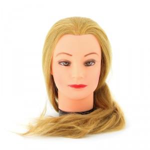 """Голова учебная DEWAL """"блондинка"""" натуральные волосы 50-60см M-4151XL-407 (408)"""