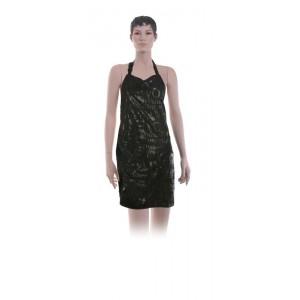 """Фартук мастера DEWAL для стрижки """"Love"""", полиэстер,черный, с карманами на молниях 66x78 см."""