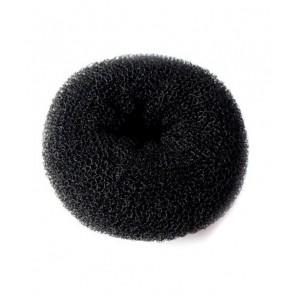Валик для прически DEWAL круглый черный, губка НО-5117L Black