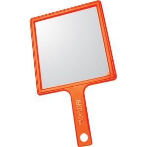 Зеркало заднего вида DEWAL пластик оранжевое с ручкой, 21,5*23,5 см