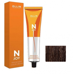 "5/37 – перманентная крем-краска для волос 100мл OLLIN ""N-JOY"""