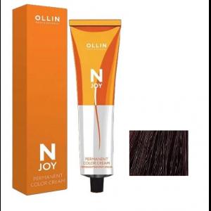 "4/52 –  перманентная крем-краска для волос 100мл OLLIN ""N-JOY"""
