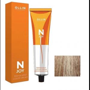 """10/75 светлый блондин коричнево-махагоновый, перманентная крем-краска для волос 100мл OLLIN """"N-JOY"""""""