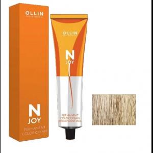 """10/0 светлый блондин, перманентная крем-краска для волос 100мл OLLIN """"N-JOY"""""""