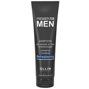 Шампунь для волос и тела освежающий 250 мл. OLLIN PREMIER FOR MEN  725485