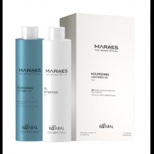 Осветляющее и увлажняющее  масло для волос с маслом моной де Таити 2*200 Maraes Каарал  1309