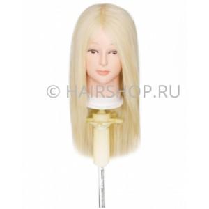 Голова-манекен 100% натуральные волосы 40-45см (цвет 613) HAIRSHOP