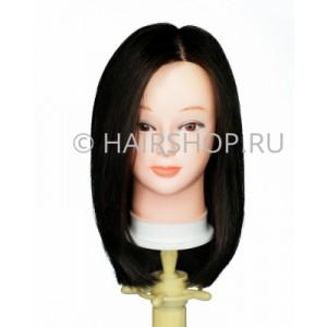 Голова-манекен 100% натуральные волосы 40-45см (цвет 1В) HAIRSHOP