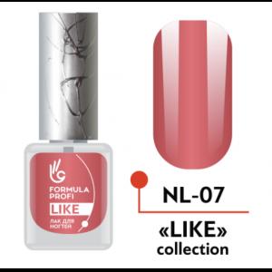 Лак для ногтей 07 Like 5мл NL-07 Формула Профи