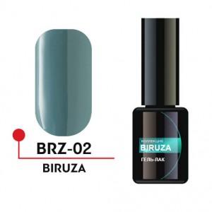 """Гель-лак """"BIRUZA"""" 5 мл №02 BRZ-02 Формула Профи"""