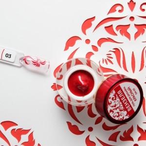 """Гель для дизайна """"Вензеля"""", цв.красный 4 гр."""