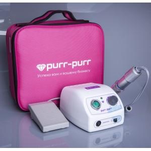 Аппарат для маникюра Purr-Purr Estron Motion c cумкой фуксия и педалью 35 000 об/мин (Инвентор)