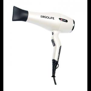 Фен DEWAL ErgoLife 2200Вт ,ионизация белый 2 насадки 03-001 white/black
