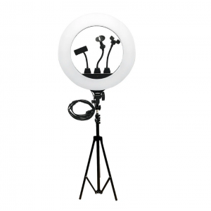 Кольцевая лампа на штативе для визажиста и селфи