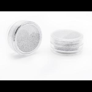 Дизайн ногтей с блестками серебро (в ассортименте)