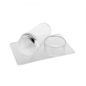 Печать для стемпинга прозрачная со скрапером и крышкой IRISK П556-16