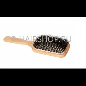 Щетка д/наращен. волос 11-7 нат.щетина/бук,КВАДРАТ Корея Hairshop