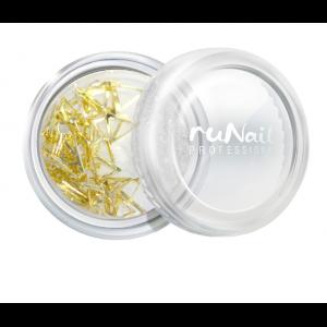 Дизайн для ногтей мет.триугольники (золото) RuNail