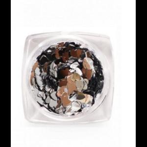 Дизайн для ногтей пайетки зеркальные(сердечки) 3784 RuNail