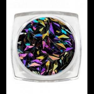 Дизайн для ногтей 3D ромбы черный опал 3803 RuNail