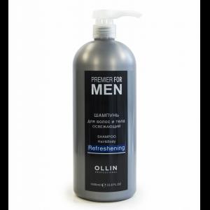 Шампунь для волос и тела освежающий 1000 мл. OLLIN PREMIER FOR MEN  729759
