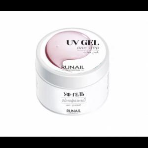 Однофазный УФ-гель розовый 15 гр 3444 RUNAIL