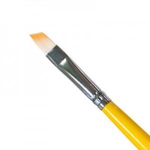 Кисть для геля искусственный ворс скошенная № 5 IRISK К209-15