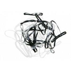 Резинки для волос DEWAL силикон чер/ бел мини (50шт) RES032