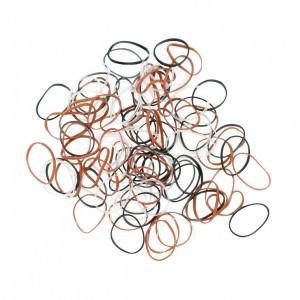 Резинки для волос DEWAL силиконовые цветные (50шт) midi RES034