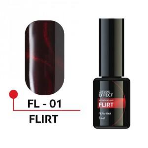 """Гель-лак """"FLIRT"""" с эффектом кошачьего глаза 5мл №01 FL-01 Формула Профи"""