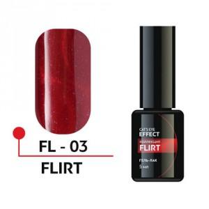 """Гель-лак """"FLIRT"""" с эффектом кошачьего глаза 5мл №03 FL-03 Формула Профи"""