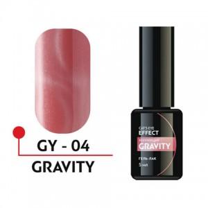 """Гель-лак """"GRAVITY"""" с эффектом кошачьего глаза 5мл №04 GY-04 Формула Профи"""