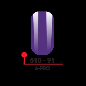 91 Цветной гель-лак А-Про 5 мл 510-91