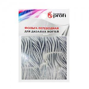 Фольга переводная с рисунком зебра черная 6*12 см TGR-12 Формула-Профи
